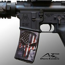AR Soc Punisher Flag  / Mag Sock Mag Wraps- Polymer 30rd Mags including PMag