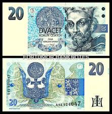 CZECH REPUBLIC 20 KORUN 1994 UNCIRCULATED P 10A PREFIX #A