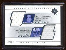 2004 ULTIMATE ROGER STAUBACH / TROY AIKMAN DUAL GAME WORN JERSEY #D /99 MINT HOF