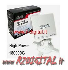 ANTENNA ULTRA POTENTE 16db RICEVITORE WIRELESS AMPLIFICATO WIFI USB CHIP REALTEK