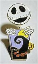 Disney - NBC - Jack Skellington Bobble Head Jack in a Box Pin New On Card