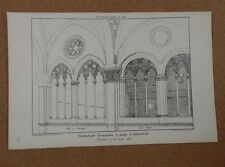 Antique architects print Lucca Cathedral Triform Traceries The Builder 1882