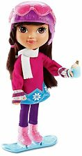 """Dora Loves Winter 8"""" Doll with Ice Skates, Snowboard, Sweater and More - NEW"""