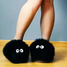 "My Neighbour Black Totoro Dust Bunny 11"" Adult Plush Slipper"