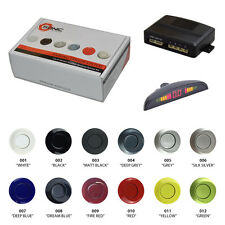 Sonic Reversa Trasero parking 4 Sensor ayuda Kit Pantalla Led Pintado silver/black/red