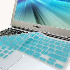 "Turquoise Blue Silicon Keyboard Cover for Samsung ARM 11.6"" Chromebook Series 3"