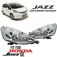 CCFL Clear Projector HeadLight Lamp LED Daytime DRL Fit For Honda JAZZ 2008-2013