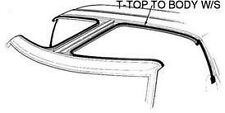 1984-1986 Mustang T-Top to Body Weatherstrip Seal (Seals Glass Panel to Body) LH