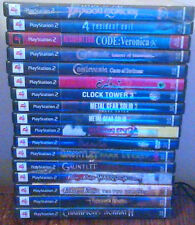 PS2 17 LOT OKAMI METAL GEAR CLOCK TOWER RESIDENT EVIL GAUNTLET + BONUS