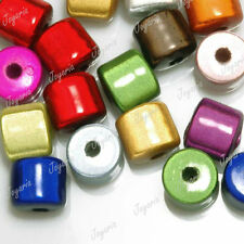 27pcs Assorted Acrylic Beads Cylinder Miracle DIY Jewelry 8x8x8mm JAAR0368