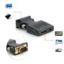 HDMI Maschio a VGA Femmina 1080p Convertitore Video Adattatore Con 3,5 mm