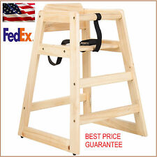 New Restaurant Style Wooden High Chair with safety belt SOLID WOOD $10 Rebate