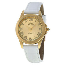Invicta Angel Champagne Dial Interchangeable Leather Ladies Watch 14805