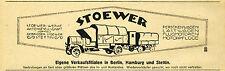 Gebr. Stoewer Stettin Reklame 1921 LKW Lastwagen Laser Lastkraftwagen Truck ad