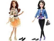 Mattel Barbie Style Dolls Raquelle and Teresa with eyelashes New 2016
