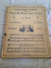 A A Milne / E H Shepard - Fourteen Songs from When We Were Young - 1926 in D/W