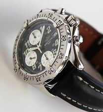 BREITLING Mens Watch, A13035.1 Colt AUTOMATIC Chronograph, BLACK, mint condition