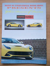 Ferrari 430 458 FF F12 Novitec Rosso press brochure magazine NO DVD NO USB