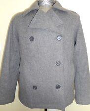 American Eagle Outfitters Medium Wool Gray Peacoat Women's Winter Coat
