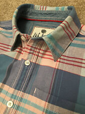 GORGEOUS FAT FACE PASTEL PINK BABY BLUE CHECK WEEKEND SHIRT S SMALL COST £65
