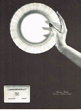 PUBLICITE ADVERTISING  1964   PORCELAINE BERNARDAUD  service VERLAINE
