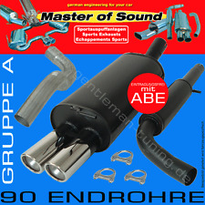MASTER OF SOUND GRUPPE A AUSPUFFANLAGE AUSPUFF VW GOLF 2 II Typ 19E  Art. 1694