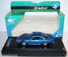 OLD SOLIDO ALPINE RENAULT A110 BLEU FONCE METAL 1970  REF 1803 IN BOX
