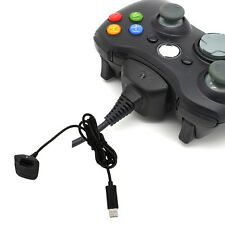 USB Charger Cable Lead for Xbox 360 Wireless Controller Gamepad Black New UK