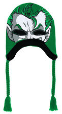 OFFICIAL DC COMICS THE JOKER GREEN SKI MASK/ COSTUME LAPLANDER BEANIE *NEW*
