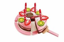 Hape Double Flavoured Birthday Cake Wooden Role Play Food Set Kitchen Pretend
