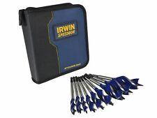Irwin IRW1912396 9 Piece 6X Auger Wood Drill Bit Set With Wallet Blue Groove New