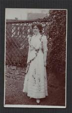 Lady Garden. C W Varley  Raunds Northamptonshire RP Vintage postcard   zc.176