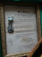"""DIPLOME POUR CHEVALIER ORDRE """"CHARLE III DESPAGNE"""" (SANS MEDAILLE, CADRE)-REPRO"""