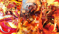 E690 Free Mat Bag Force Of Will Red Wizard Kanna Playmat Card Game Play Mat