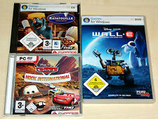 3 PC SPIELE SAMMLUNG - DISNEY PIXAR RATATOUILLE CARS HOOK INTERNATIONAL WALL E