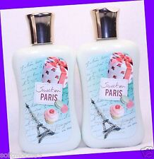 2 Bath & Body Works SWEET ON PARIS Body Lotion Shea Butter & Vitamin E & Jojoba