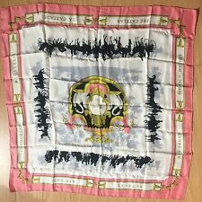 100% Authentic Hermes Silk Scarf Made In France 87x86 Cm