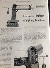 M9-5 Ephemera 1960 Article How To Make Meccano Platform Weighing Machine