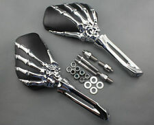 CHROME SKELETON HAND MIRRORS FOR KURYAKYN HARLEY HONDA YAMAHA 1759