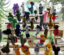 20 Brand New From Peru Knitted Finger Puppets Alpacas, Farm, Sea Animal & Others