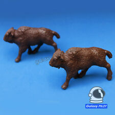 Toy Soldiers American Bison Buffalo Brown 2pcs Plastic Animal Figure marx timpo?