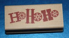 NEW Inkadinkado 'Ho Ho Ho' Christmas Wooden Backed Rubber Stamp 98226K
