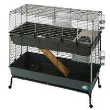 2 Tier Small Pet Cage Guinea pigs Dwarf rabbits Mobile Loads of Accessories Gift