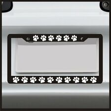 Puppy Paw Print - License Plate Frame - Frame for car / truck / funny cat dog