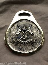 Excellent Vintage British Army 9th Queen's Royal Lancers Military Horse brass