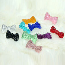 10x Cute Bow Bling Anti Dust Plug for iPhone 4s 3.5mm Jack Earphone Stopper Cap