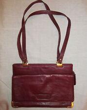 vintage LEATHER GOODS INTERNATIONAL ox blood  burgundy soft  shoulder bag ITALY
