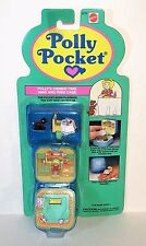 1991 POLLY POCKET Bluebird *DINNERTIME* Keepsake Ring + Case MOC NIP