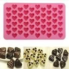 Chocolate Cookie Heart-shape Silicone Ice Cube Jelly Tray Candy Cake Baking Mold