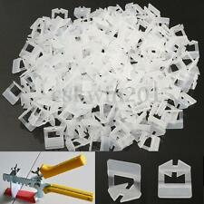 800x Tile Leveling System Flat Clips Plastic Spacer Tiling Flooring Tool 1mm New